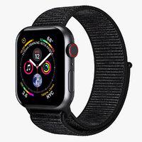 Apple Watch 4 Series Space Gray Aluminum Case with Black Sport Loop