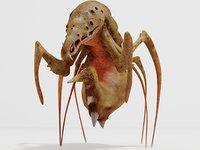 sci-fi monster 3D model