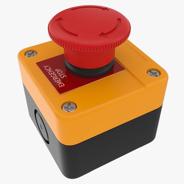 3D model emergency button