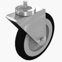 3D caster wheel