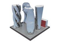 3D modern future building