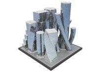3D modern future building model