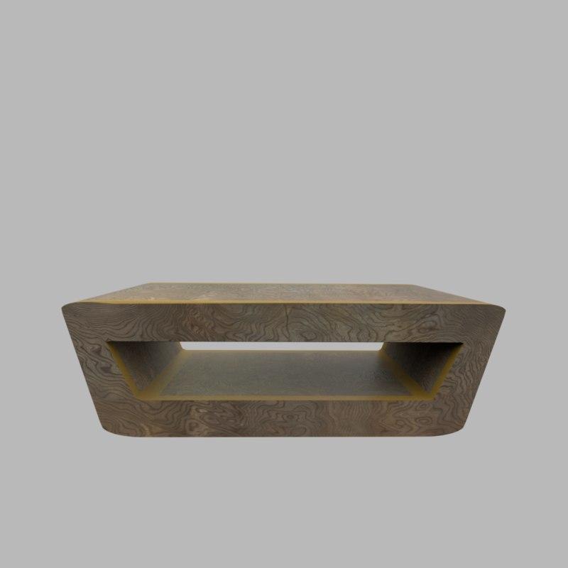 fine wood coffee table 3D model