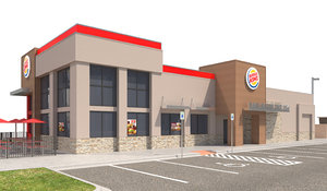 burger king site 3D model
