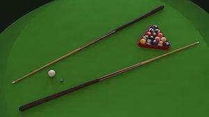 3D pool cue model