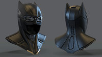 3D model batman cowl
