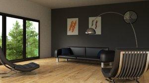 3D lounge room