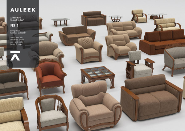 living furniture architectural content model