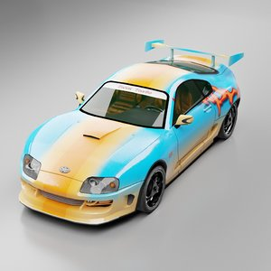 toyota supra twin turbo 3D model