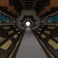 3D scifi interior