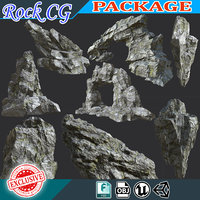 Low poly PBR Realistic Rock Package 001