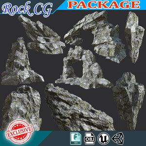 rock polys 3D