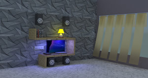 3D lcd drawing room unit