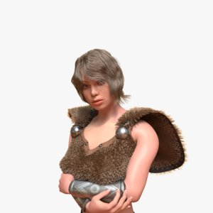 female animation rigged model