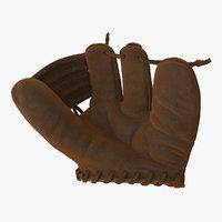 3D vintage baseball glove generic