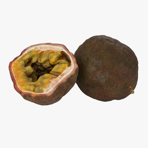 3D model passion fruit