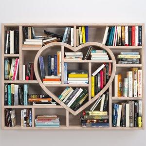 3D heart books model
