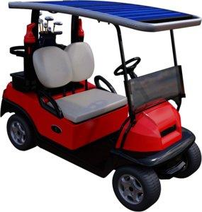 solar golf cart 3D model