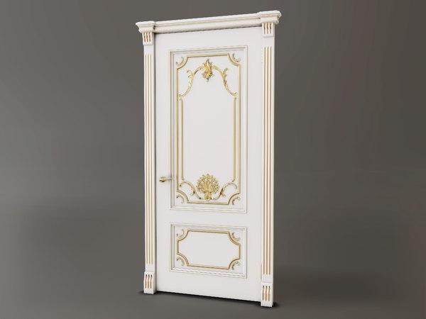 3D model classic baroque door