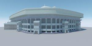 3D sport stadium