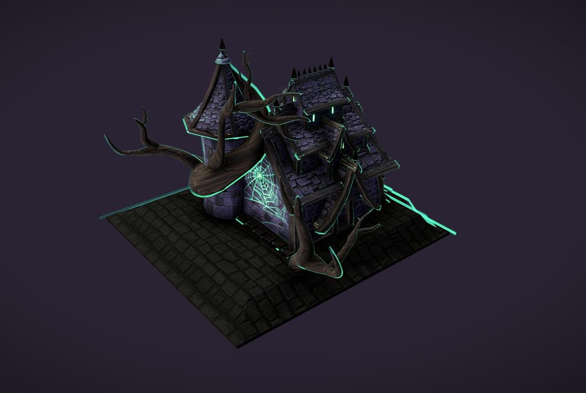 3D dark house model