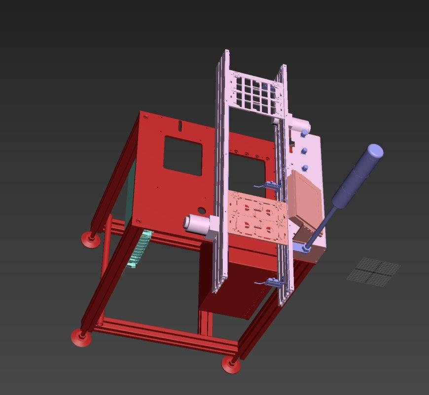 3D pcb assembly line conveyor model