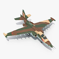 3D attack plane su-25 frogfoot