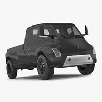 3D tesla pickup electric concept