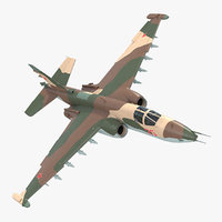 3D sukhoi su25 grach rigged model