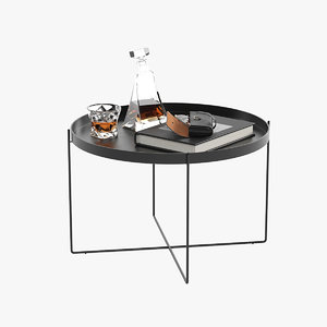 coffee table accessories 3D model