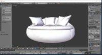 3D model sofa minimalist