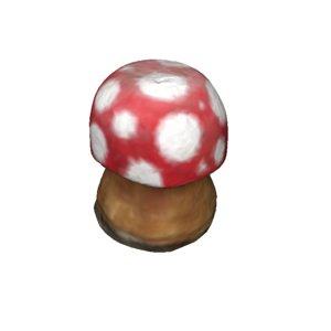 3D tiny red mushroom