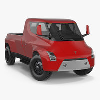 Tesla Electric Pickup Concept Rigged 3D Model