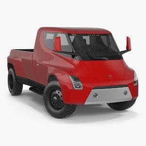 tesla electric pickup concept 3D model