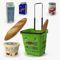 3D plastic roll shopping basket