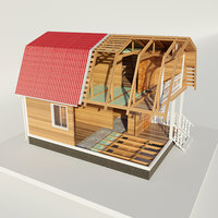 disassemble house 3D model