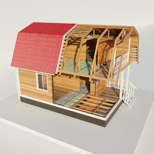 disassemble house 3D model