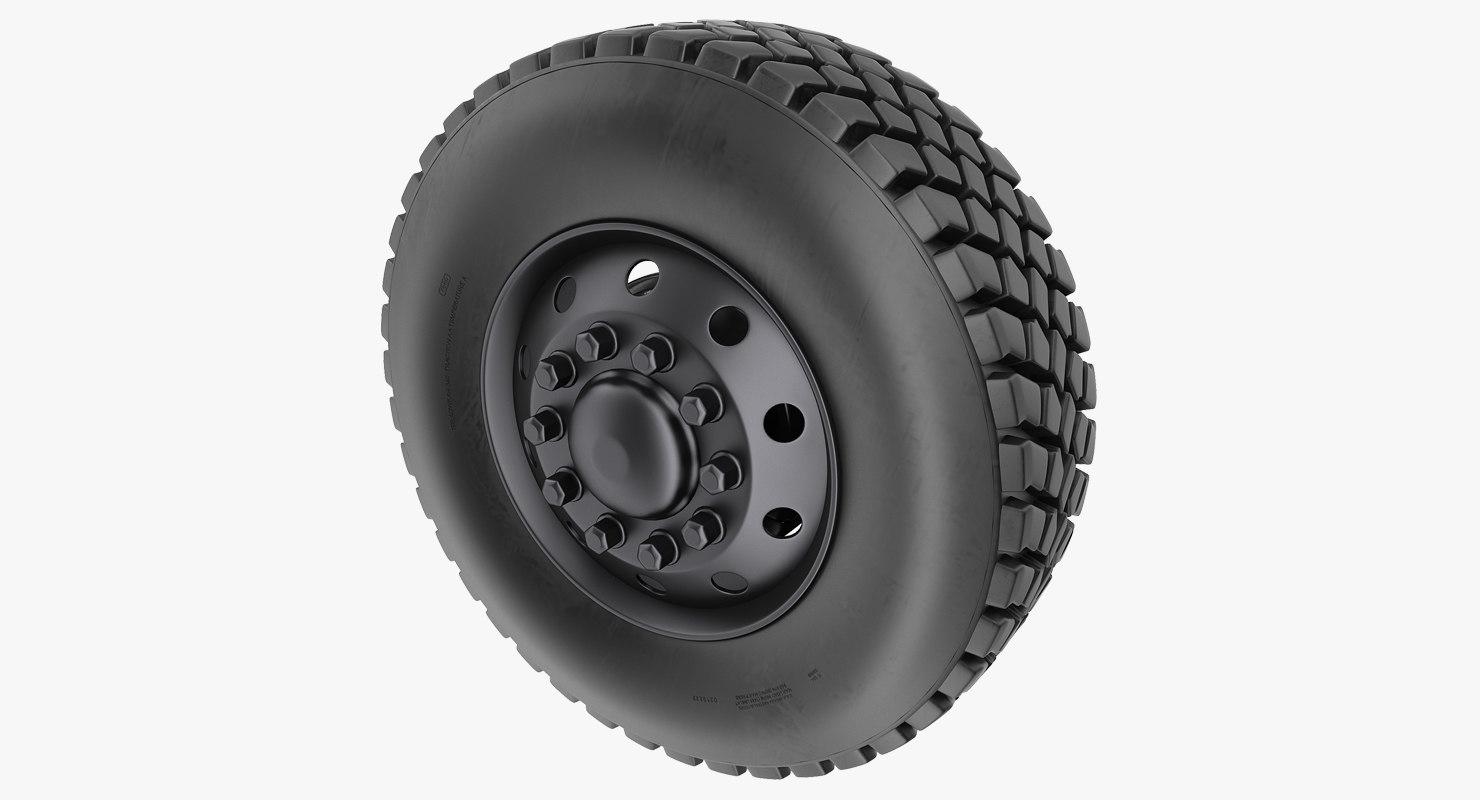 road rim tyre model