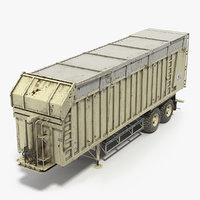 Harvester Trailer Dirty 3D Model