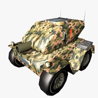 Tank Cartoon Low Poly