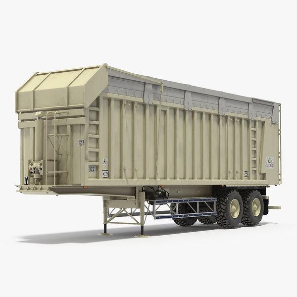 harvester trailer clean 3D model