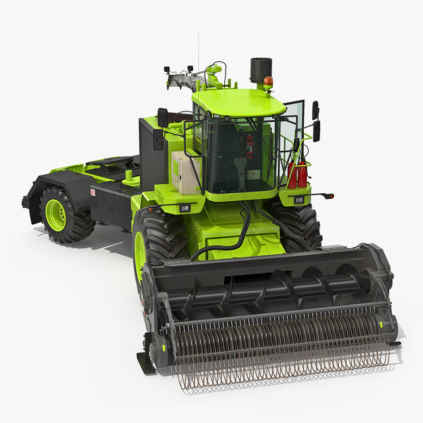 3D model forage harvester combine generic