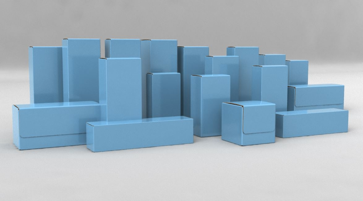package pack box 3D model