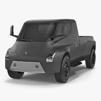 3D concept tesla pickup simple model