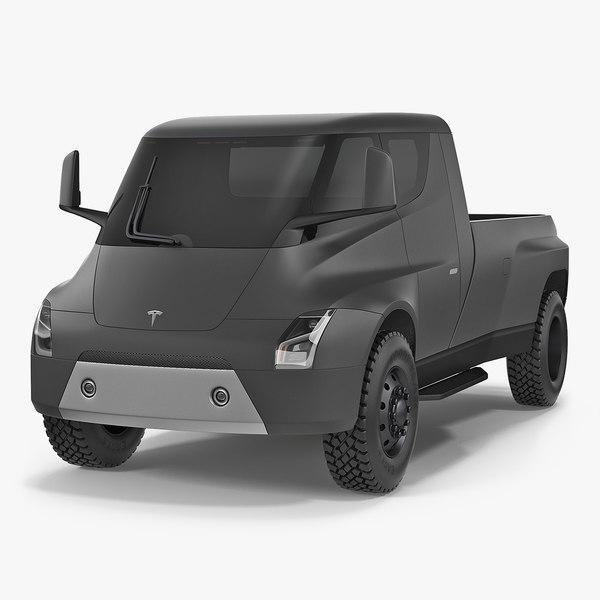 3D concept tesla pickup simple model