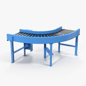 curved roller conveyor 3D model