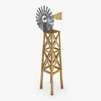 old farm windmill 3D model