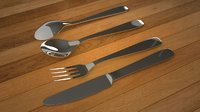 spoon set 3D