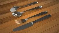 3D Spoon Set