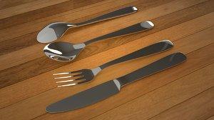 spoon set 3D